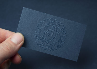 Embossed Business Card MockUp Low